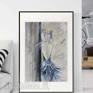 obraz ręcznie malowany 50x70 cm, abstrakcja, do sypialni, 2611590, obrazy