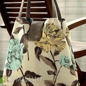 Kwiatowa torba worek na ramię happyart torba, shopper, kwiaty