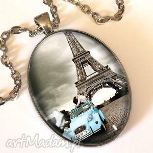 ręczne wykonanie naszyjniki romantyczny paryż - owalny medalion z łańcuszkiem