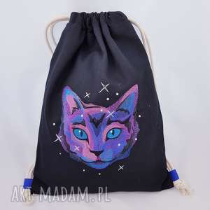 plecak worek kosmiczny kot - ,plecak,kot,kotek,meow,worek,kosmos,