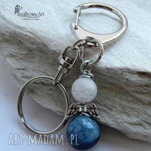Agat Anioł z kwarcem II, agat, kryształ, anioł, brelok, klucze, torebka