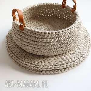 handmade kosze koszyk na pieczywo lub owoce - beżowy