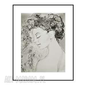 Caprice, plakat, portret kobiety format 59/84 cm, kobieta,
