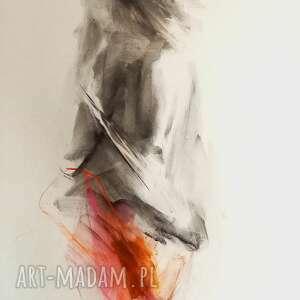 rysunek kobieta, grafika obraz do salonu