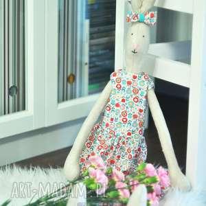Królik Hania XL, przytulanka, ręcznierobiona, królik, zabawka