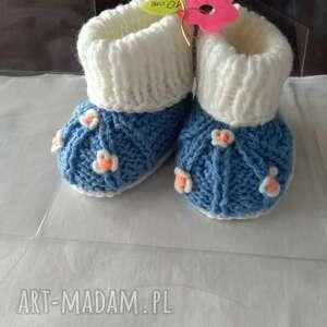 Wiosenne buciki tiny feet rękodzieło