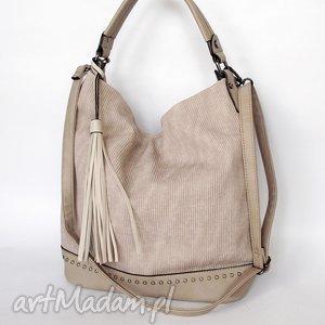 Torba z ekoskóry beżowa, torba, torebka