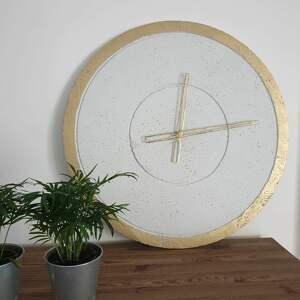 ręcznie wykonany duży zegar ścienny, betonowy niepowtarzalny