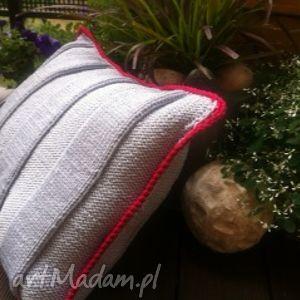 poduszka pasy, ręczna, handmade, sypialnia dom
