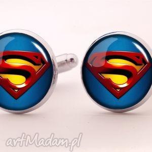 superman - spinki do mankietów - superman, super, bohater, hero, spinki, prezent