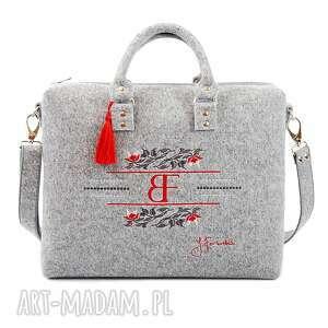 hand-made na ramię torebka filcowa royal 384