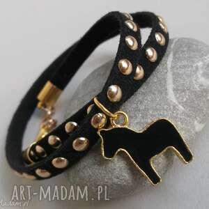 bransoletka zamszowa black, rzemień, rzemienna, zamszowa, bransoletka, koń, konik