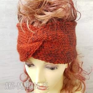 albadesign kolorowa opaska turban, na uszy, szeroka opaska