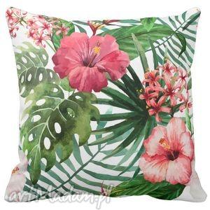 poduszka dekoracyjna kwiaty tropic 6518, tropic, kwiaty, tropikalne, lato