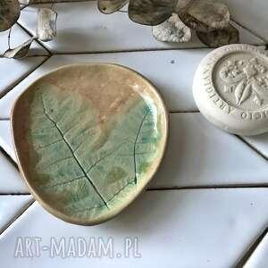 talerzyk /mydelniczka w lesie, ceramiczny, mydelniczka ceramiczna