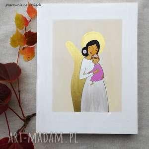 pokoik dziecka obrazek na chrzest święty - dziewczynka, pamiątka chrztu, prezent
