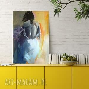 woman 100x70, obraz do salonu, akt grafika, kobieta obraz, duży na ścianę
