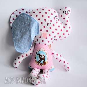 Słoń Farciarz - Emma 48 cm, słoń, dziewczynka, sarna, maskotka, przytulanka, roczek