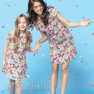 Komplet prostych sukienek na lato w ciekawe wzory, model 34