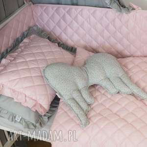 Ochraniacz do łóżeczka Pikowany Pudrowy róż, ochraniacz, ochraniacz-do-łóżecz