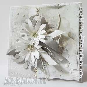 Kartka z kwiatami - w pudełku, ślub, życzenia, gratulacje, podziękowanie, urodziny