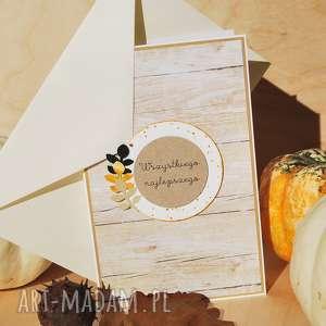 jesienna kartka - jesień, jesiennie, liście, urodzinowa, imieninowa