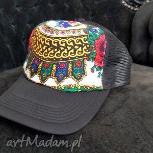 folk design- czapka tirówka - unikat, góralska
