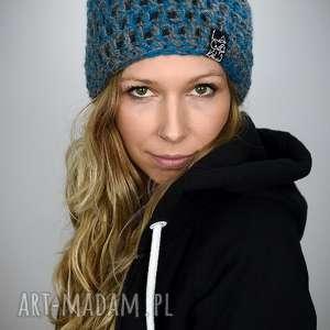czapka melange 03, czapka, melanż kolorowa na zimę