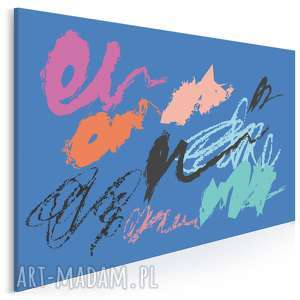 obraz na płótnie - abstrakcja niebieski 120x80 cm (55003)