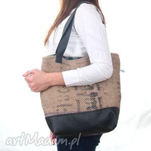 bf7c0976b2b66 torba z juty seria coffee - Torebki na ramię