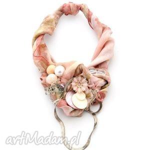 naszyjniki rouge fairytale naszyjnik handmade, naszyjnik, róż, różowy, pastele