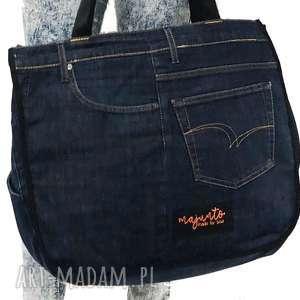 na ramię duża torba upcykling jeans 36 lee cooper od majunto