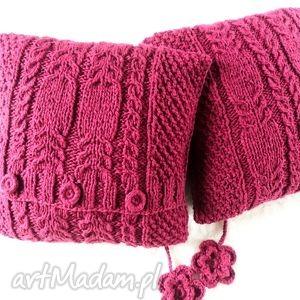 poduszki robione ręcznie wełna 40x40 cm 2szt, poduszka, poduszki, poducha