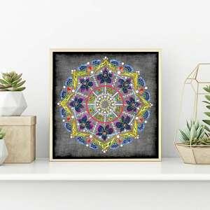 ręcznie zrobione mandale mandala 50x50cm