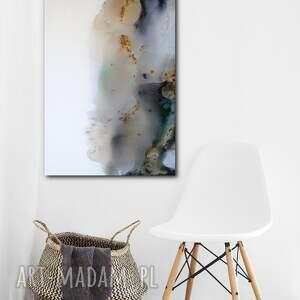 obraz kałuża - do salonu na prezent - ręcznie malowany - abstrakcja, decore