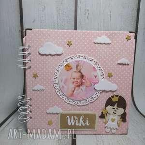 Album ze zdjęciem Małej Księżniczki, urodziny, chrzest, narodziny, sesja, księżniczka