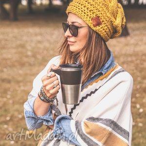 this is it pikantna musztarda, jesień, zima, ocieplana, handmade czapki