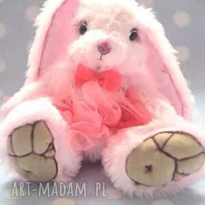 Hand made, Królisia Kaja, szyta ręcznie, przytul misie , miś, królik, zając, zabawka
