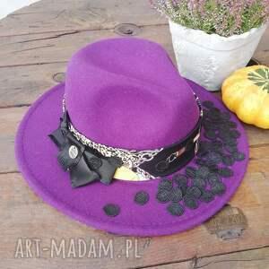 ręcznie wykonane czapki kapelusz śliweczka