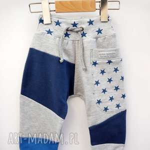 handmade patch pants spodnie 74 - 104 cm gwiazdy
