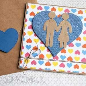 handmade kartki kartka ślubna:: ludziki:: multicolor