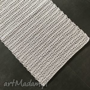 dywan ze sznurka baweŁnianego biaŁy 60x120 cm - dywan, chodnik, szydełko