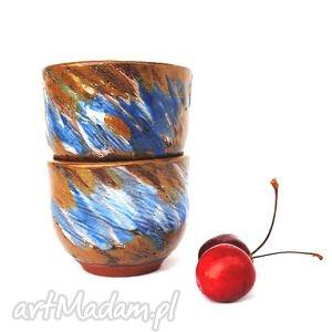 sencha- ceramiczne czarki 2 szt, czarka, naczynie, ceramika, unikat, użytkowe