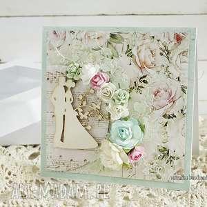 hand-made scrapbooking kartki kartka ślubna w pudełku, 155