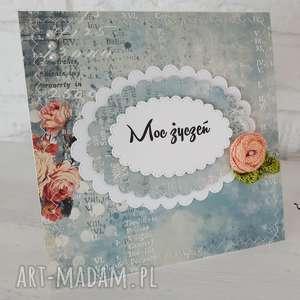 kartka urodzinowa/imieninowa, kartka, scrapbooking, imieniny, prezent, urodziny