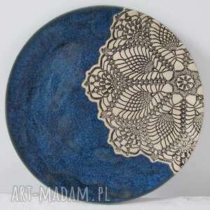 Ceramika Ana talerz z koronką