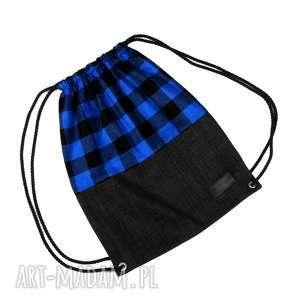 pod choinkę prezent, męskie worek plecak unisex, worek, plecak, kratka, drwal, unisex