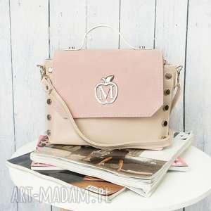 Prezent Mini kuferek listonoszka ĆWIEKI różowa, torebka, kuferek, listonoszka, ćwieki