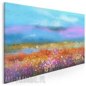 obraz na płótnie - kwiaty łąka kolorowy 120x80 cm 99201, łąka, kwiaty, lato
