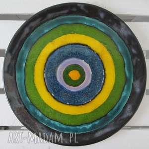 artystyczna patera ceramiczna, talerz, ceramiczny, dekoracyjny, kolorowy,